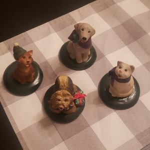 Byers' Choice Four Pet Carolers